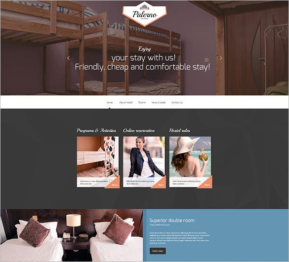hotels responsive website template1