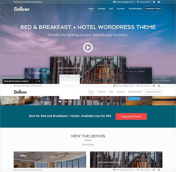 hotel breakfast booking website theme