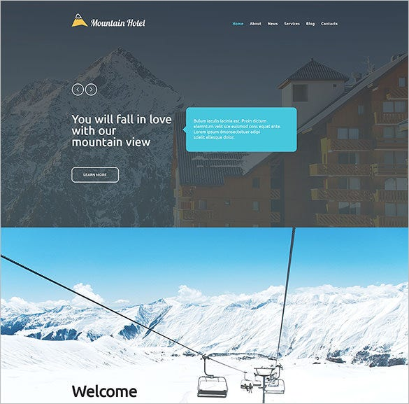 hotel business website template
