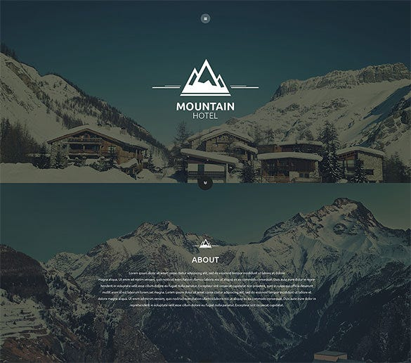 mountain hotel website template