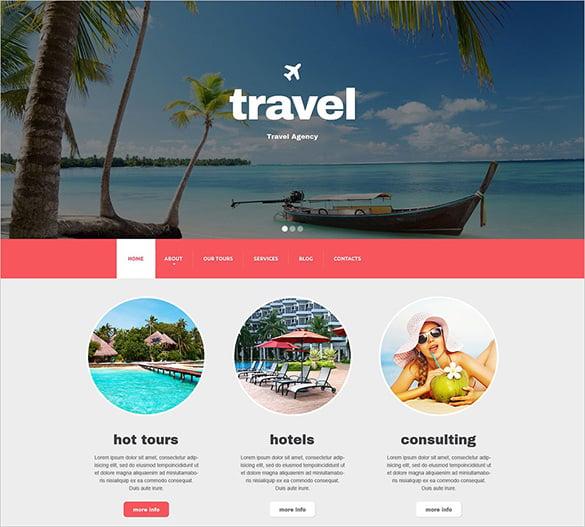 travel agency responsive drupal html5 theme