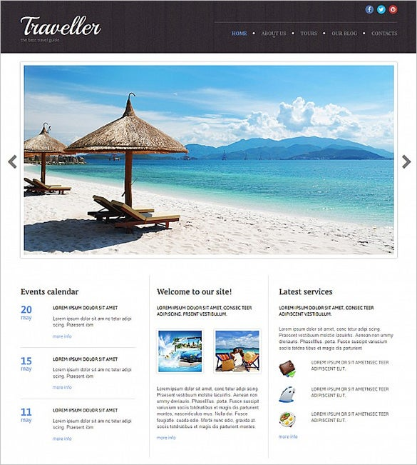 travel agency responsive moto cms 3 html5 template