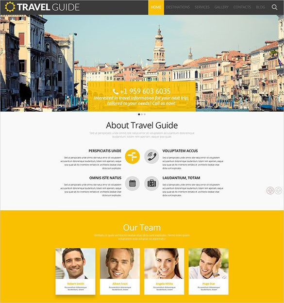 travel guide wordpress html5 template
