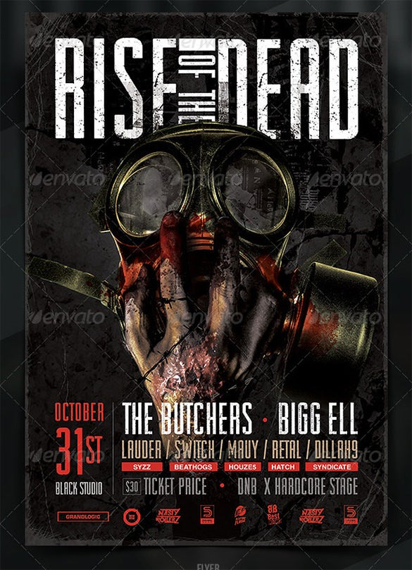 Zombie Flyer Templates  Free Psd Eps Ai Indesign Word
