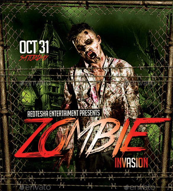 zombie invasion flyer
