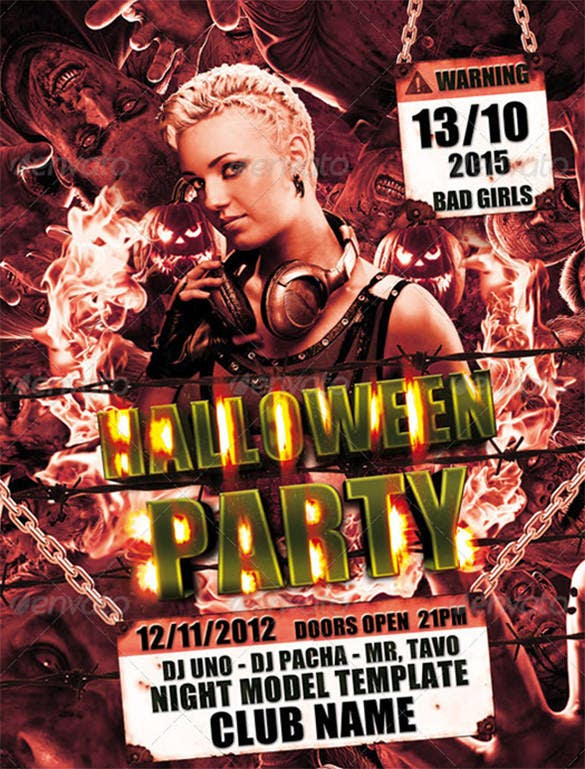 21 Zombie Flyer Templates Free Psd Eps Ai Indesign Word Pdf