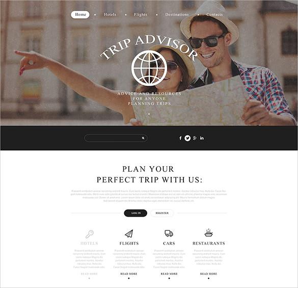 trip advisor website html 5 template