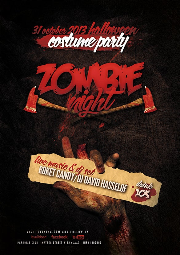 halloween zombie night