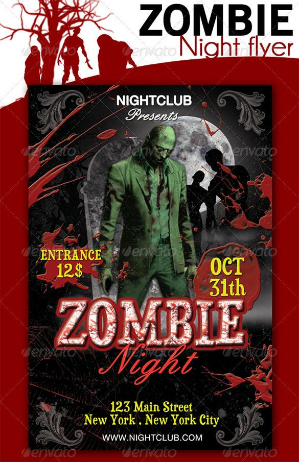 zombie night flyer