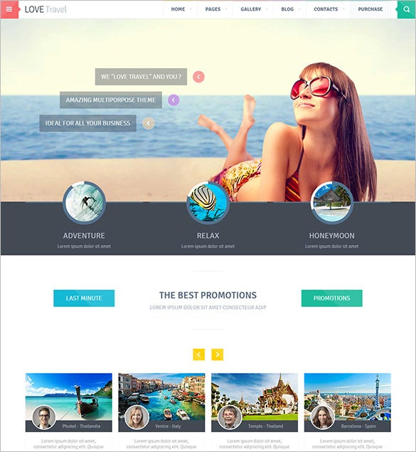 love travel html5 template