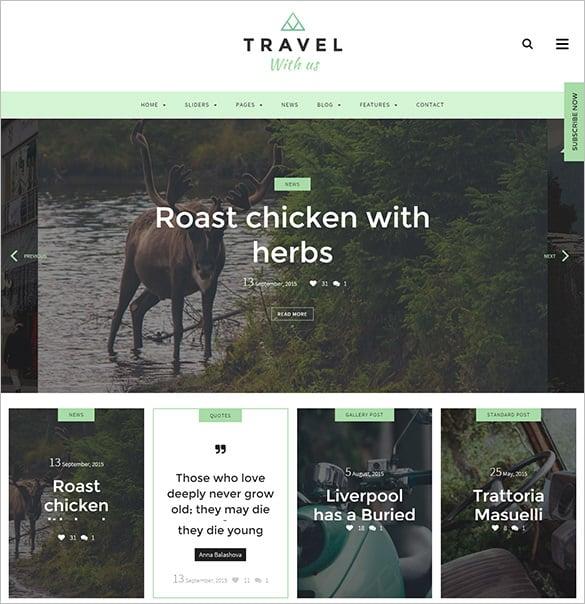 suoerb travel wordpress blog html5 theme