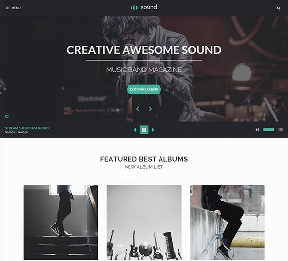 premium music blog theme