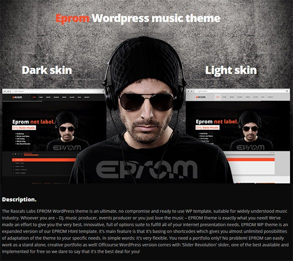 eprom wordpress music blog theme