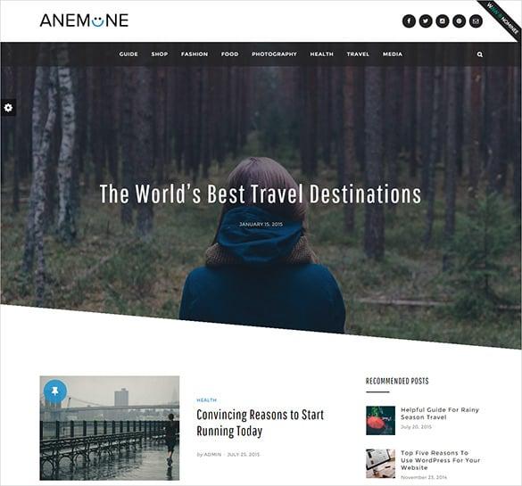 travel magazine wordpress html5 template