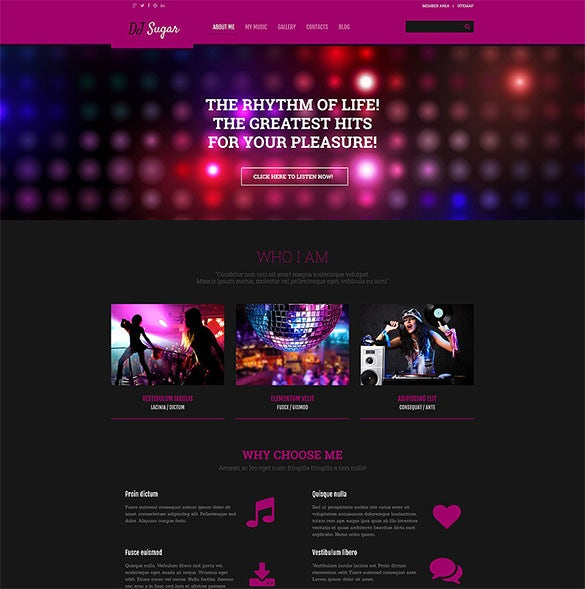 dj responsive wordpress music blog theme
