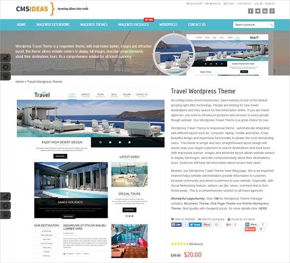 travel responsive wordpress html5 theme