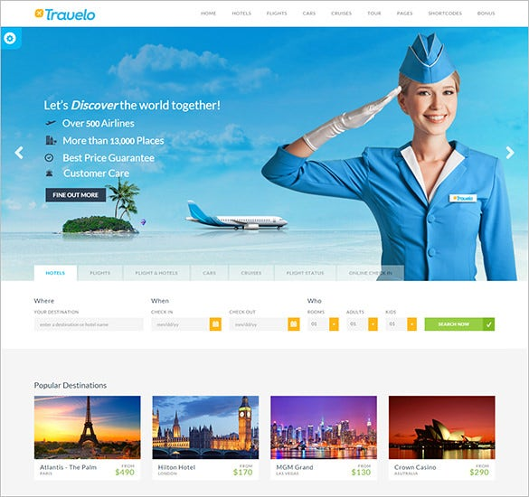 responsive travelo html5 template