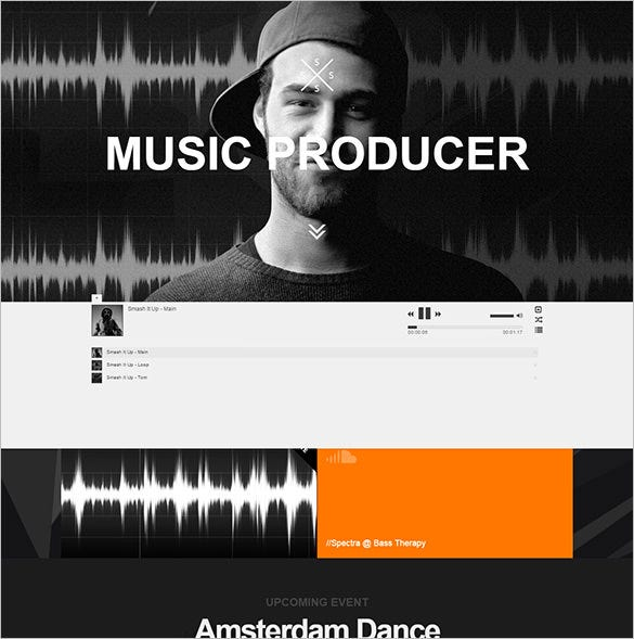 responsive dj music blog theme