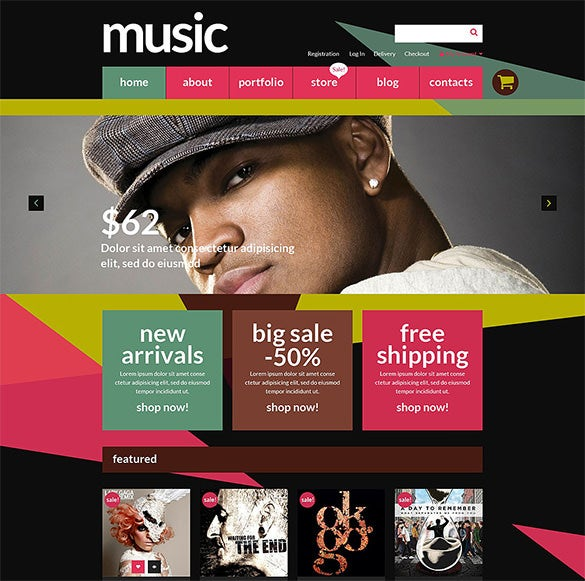 music store woocommerce blog theme