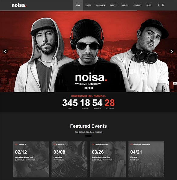 noisa full ajax music blog theme