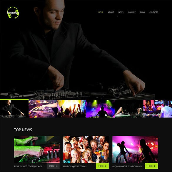 dj wordpress music blog theme