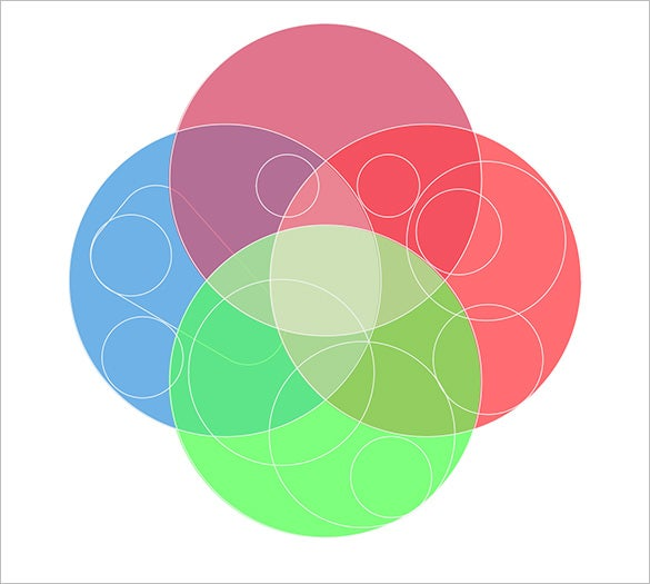4 Circle Venn Diagram Templates 9 Free Word Pdf Format Download