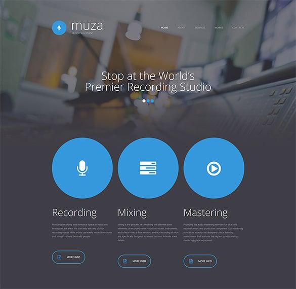 recording studio responsive bootstrap template