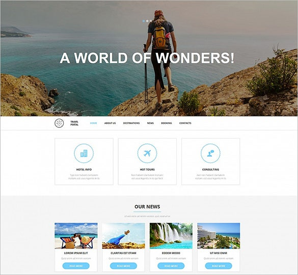 travel responsive moto bootstrap cms 3 template