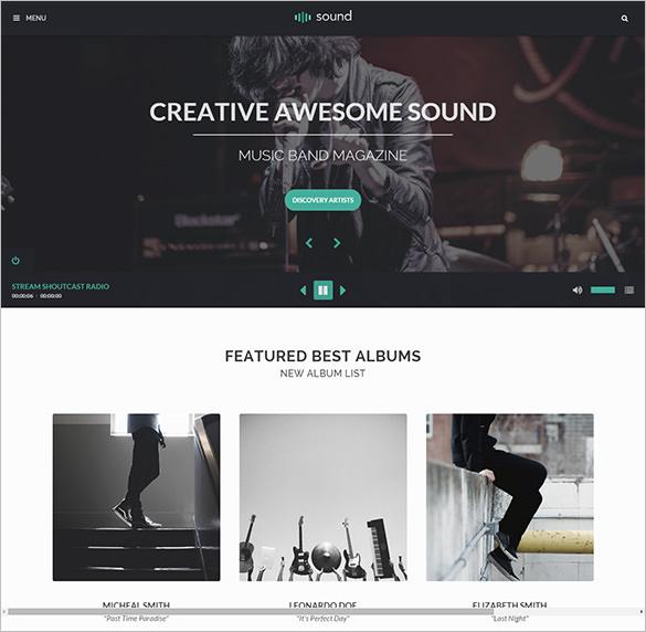 premium music bootstrap theme
