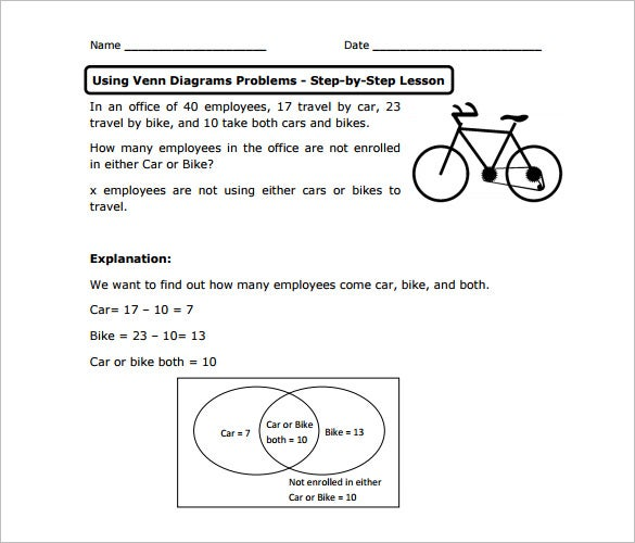 venn diagram worksheet templates – 10+ free word, pdf ... venn diagram problems to print