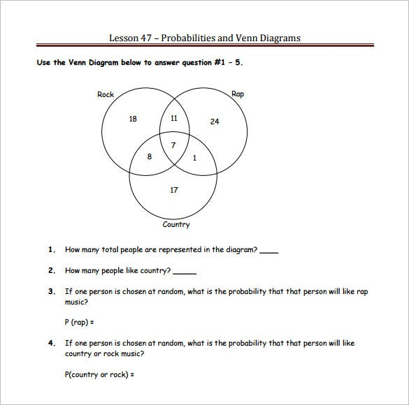 diagram word problems 6th grade venn diagram word problems worksheet lesupercoin