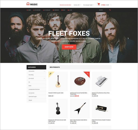 music store magento bootstrap theme