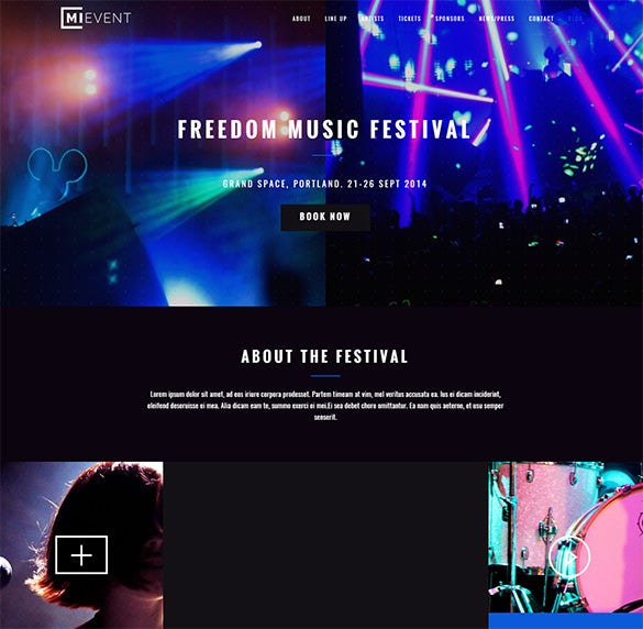 event music wordpress bootstrap theme