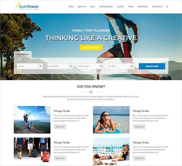 that has been created on the bootstrap 3 framework has a responsive design and is perfect for trip advisor organizations as well as travel agencies