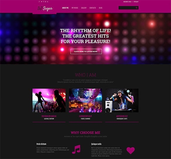 dj responsive wordpress bootstrap theme