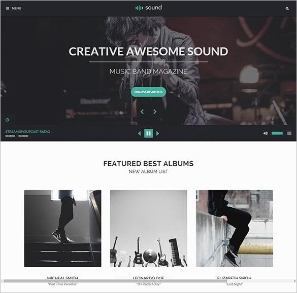 premium sound music php theme