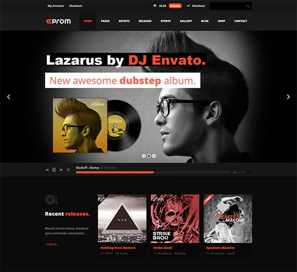 eprom wordpress music php theme