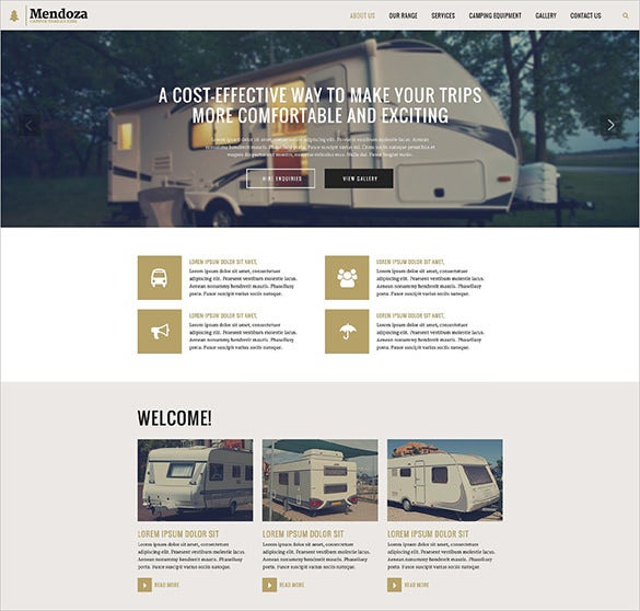 mendoza website template