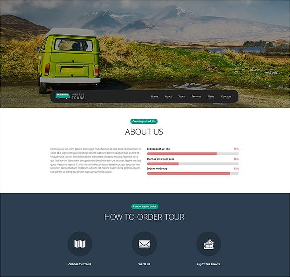pro travel website template