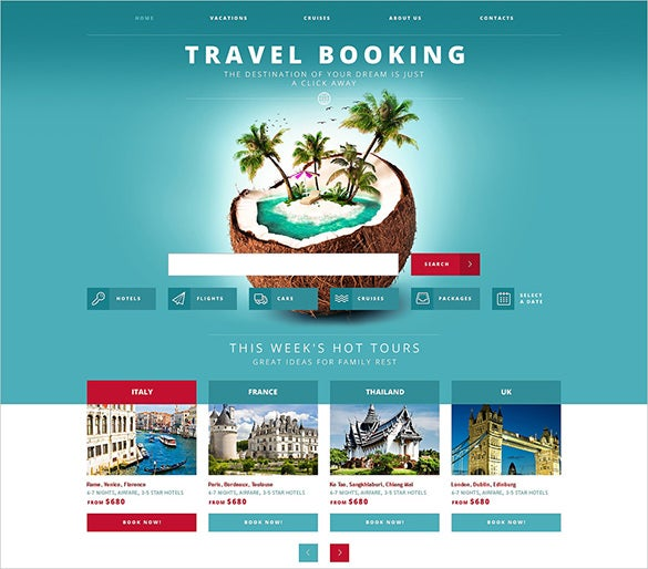 responsive travel agency website template