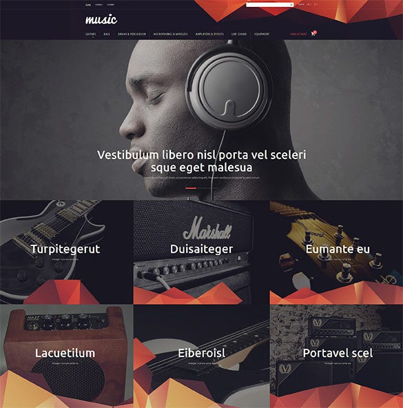 music store prestashop php theme