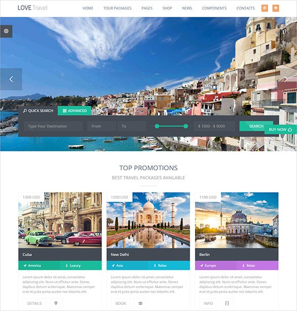 creative travel agency wordpress website template