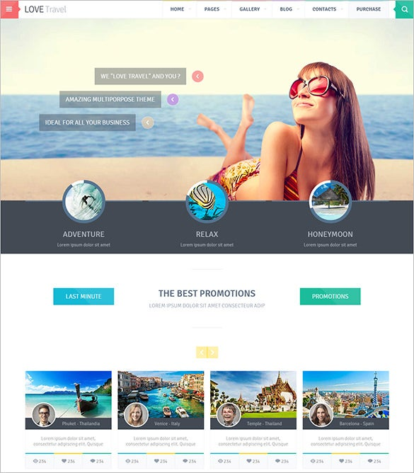love travel agency html5 website theme
