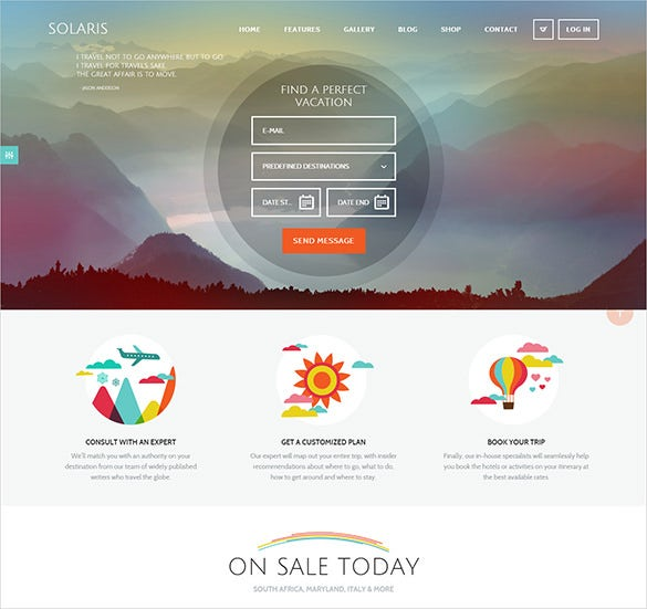 beautiful travel agency wordpress website theme