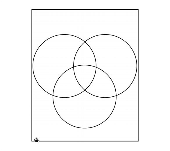 3 circle venn diagram blank sample printable