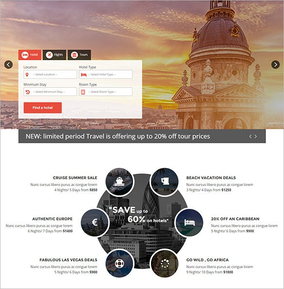 ultimate travel theme for joomla