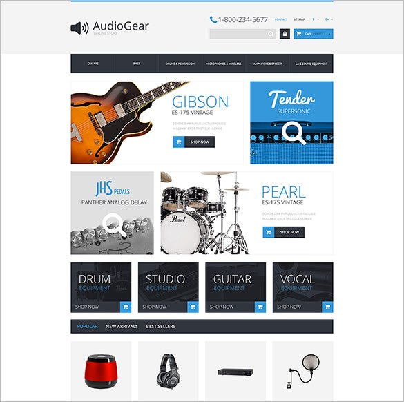 music equipment prestashop theme