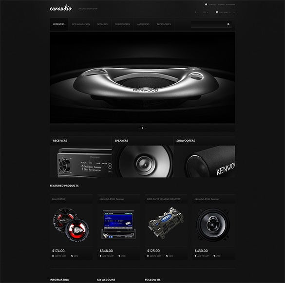 car music systems prestashop theme