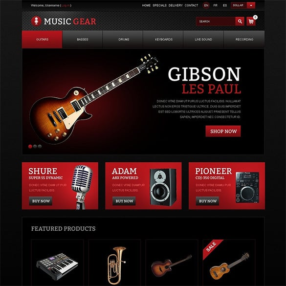 professional music gear prestashop theme