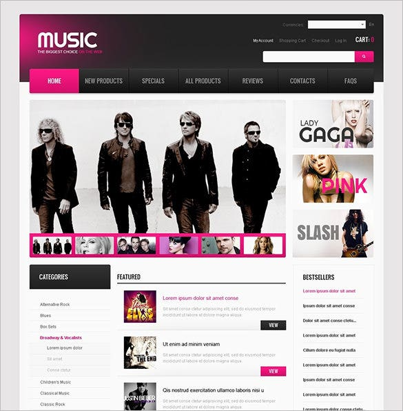 music for any mood zencart template